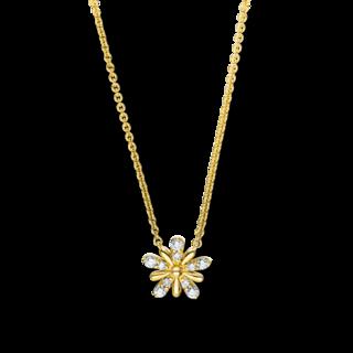 Brogle Selection Halskette mit Anhänger Basic Blume 4F161G8-1