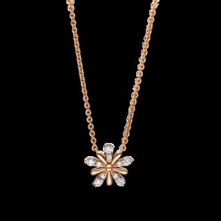 Brogle Selection Halskette mit Anhänger Basic Blume 4F161R8-1