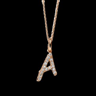 Brogle Selection Halskette mit Anhänger Basic Buchstabe A 4A804R8-4