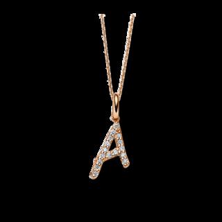 Brogle Selection Halskette mit Anhänger Basic Buchstabe A 4A804R8-5