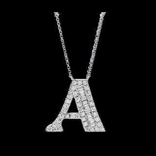 Brogle Selection Halskette mit Anhänger Buchstabe A 4F478W8-1