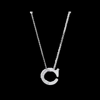 Brogle Selection Halskette mit Anhänger Basic Buchstabe C 4A430W4