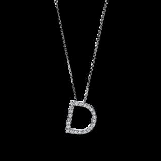 Brogle Selection Halskette mit Anhänger Basic Buchstabe D 4F739W4-1