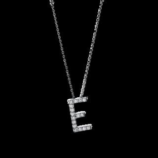 Brogle Selection Halskette mit Anhänger Basic Buchstabe E 4F740W4-1