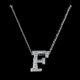 Brogle Selection Halskette mit Anhänger Basic Buchstabe F 4A173W8-1