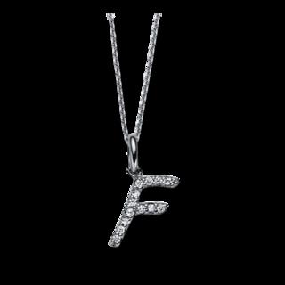 Brogle Selection Halskette mit Anhänger Basic Buchstabe F 4C335W4-1