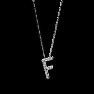 Brogle Selection Halskette mit Anhänger Basic Buchstabe F 4F741W4-1