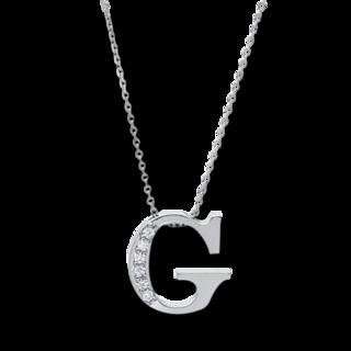 Brogle Selection Halskette mit Anhänger Basic Buchstabe G 4A434W4-1
