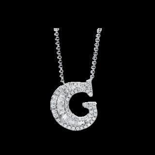 Brogle Selection Halskette mit Anhänger Buchstabe G 4F480W8-1