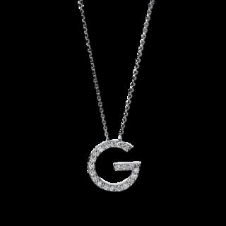Brogle Selection Halskette mit Anhänger Basic Buchstabe G 4F742W4-1