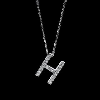 Brogle Selection Halskette mit Anhänger Basic Buchstabe H 4F743W4-1