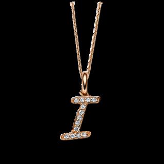 Brogle Selection Halskette mit Anhänger Basic Buchstabe I 4C336R4-1