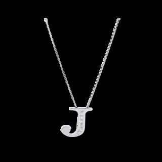 Brogle Selection Halskette mit Anhänger Basic Buchstabe J 4A437W4