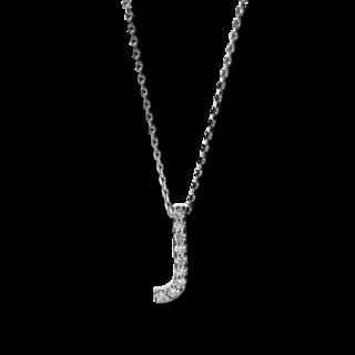 Brogle Selection Halskette mit Anhänger Basic Buchstabe J 4F745W4-1