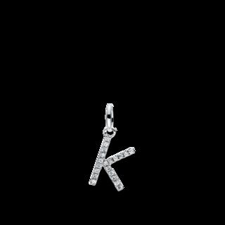 Brogle Selection Anhänger Basic Buchstabe K 3D719W8-1