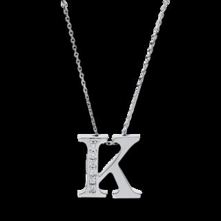 Brogle Selection Halskette mit Anhänger Basic Buchstabe K 4A438W4-1