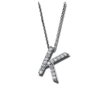 Brogle Selection Halskette mit Anhänger Basic Buchstabe K 4F746W4-1
