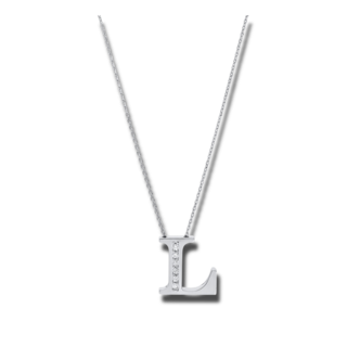 Brogle Selection Halskette mit Anhänger Basic Buchstabe L 4A439W4