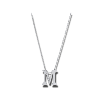 Brogle Selection Halskette mit Anhänger Basic Buchstabe M 4A440W4