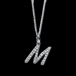 Brogle Selection Halskette mit Anhänger Basic Buchstabe M 4B482W8-5