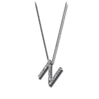 Brogle Selection Halskette mit Anhänger Basic Buchstabe N 4F748W4-1
