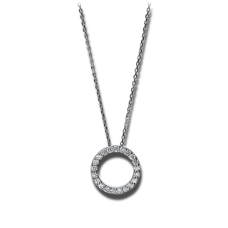 Brogle Selection Halskette mit Anhänger Basic Buchstabe O 4F749W4-1