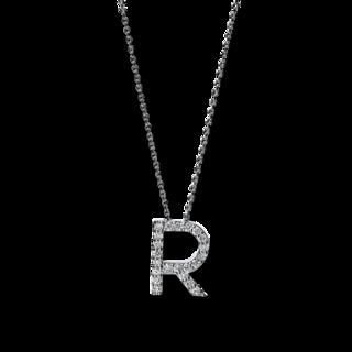 Brogle Selection Halskette mit Anhänger Basic Buchstabe R 4F751W4-1