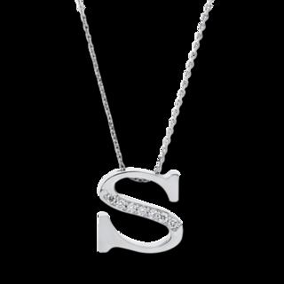 Brogle Selection Halskette mit Anhänger Basic Buchstabe S 4A445W4-1