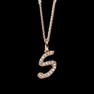 Brogle Selection Halskette mit Anhänger Basic Buchstabe S 4B388R8-2