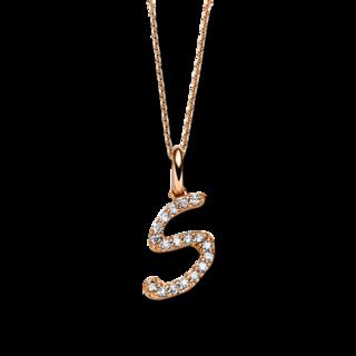Brogle Selection Halskette mit Anhänger Basic Buchstabe S 4B388R8-4