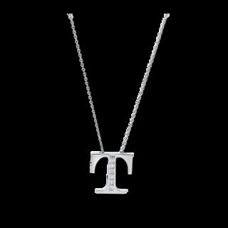 Brogle Selection Halskette mit Anhänger Basic Buchstabe T 4A446W4
