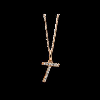 Brogle Selection Halskette mit Anhänger Basic Buchstabe T 4A828R8-1