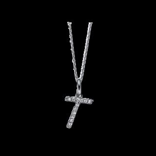 Brogle Selection Halskette mit Anhänger Basic Buchstabe T 4A828W8-1
