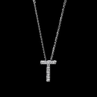 Brogle Selection Halskette mit Anhänger Basic Buchstabe T 4F752W4-1