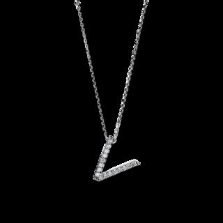 Brogle Selection Halskette mit Anhänger Basic Buchstabe V 4F754W4-1