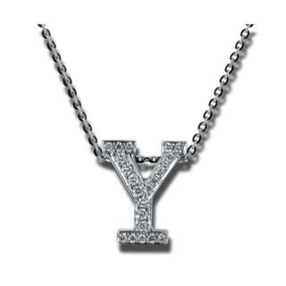 Brogle Selection Halskette mit Anhänger Basic Buchstabe Y 4A190W8-1