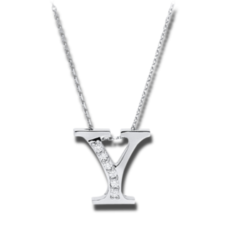 Brogle Selection Halskette mit Anhänger Basic Buchstabe Y 4A449W4-1