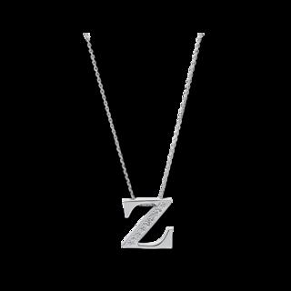 Brogle Selection Halskette mit Anhänger Basic Buchstabe Z 4A450W4