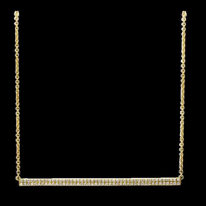 Halskette mit Anhänger Brogle Selection Basic aus 585 Gelbgold mit 90 Brillanten (0,26 Karat) bei Brogle