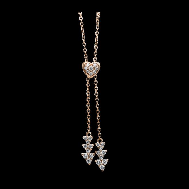 Halskette mit Anhänger Brogle Selection Basic aus 750 Roségold mit 46 Brillanten (0,66 Karat) bei Brogle