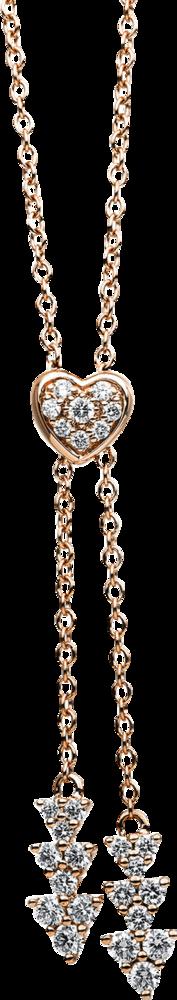 Halskette mit Anhänger Brogle Selection Basic aus 750 Roségold mit 46 Brillanten (0,66 Karat)