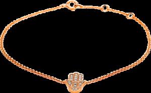 Armband Brogle Selection Basic Hand aus 750 Roségold mit 18 Brillanten (0,08 Karat)