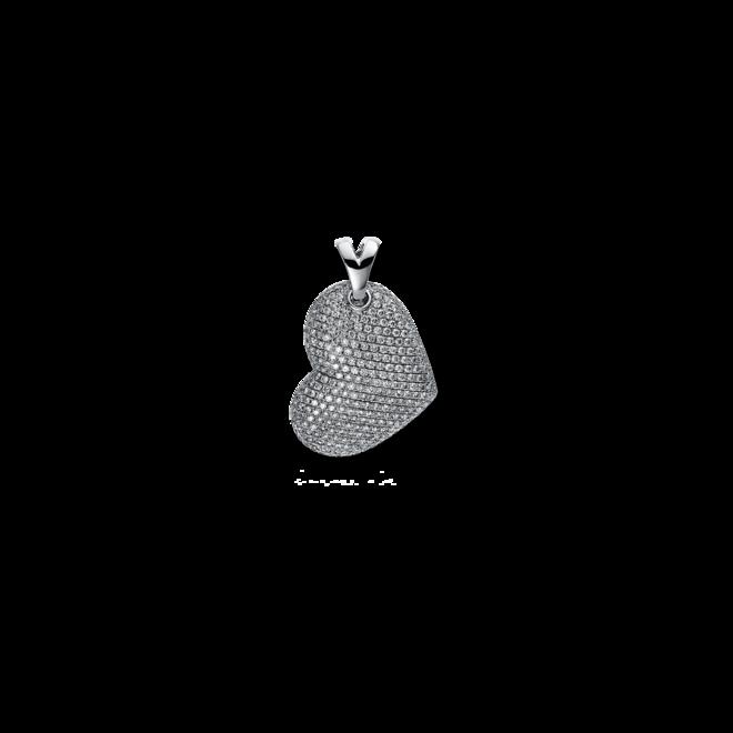 Anhänger Brogle Selection Basic Herz aus 750 Weißgold mit 291 Brillanten (1,5 Karat) bei Brogle