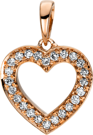 Anhänger Brogle Selection Basic Herz aus 750 Roségold mit 24 Brillanten (0,11 Karat)