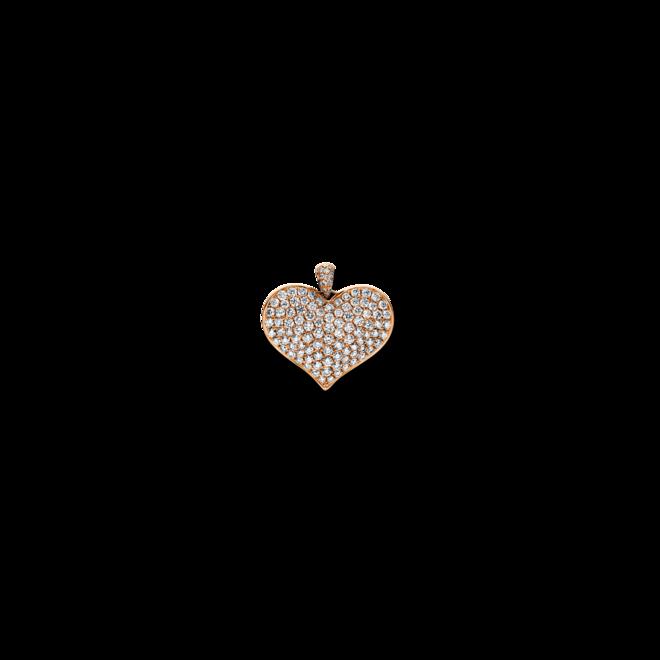 Anhänger Brogle Selection Basic Herz aus 750 Roségold mit 109 Brillanten (1,26 Karat) bei Brogle
