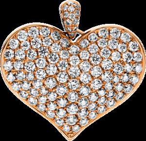Anhänger Brogle Selection Basic Herz aus 750 Roségold mit 109 Brillanten (1,26 Karat)