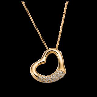 Brogle Selection Halskette mit Anhänger Basic Herz 4A194G8-1