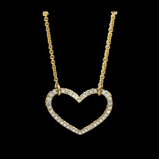 Brogle Selection Halskette mit Anhänger Basic Herz 4A206G4