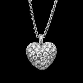 Brogle Selection Halskette mit Anhänger Basic Herz 4B998W4-1