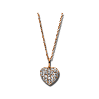 Brogle Selection Halskette mit Anhänger Basic Herz 4C661R8
